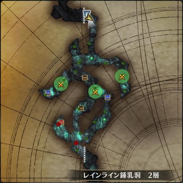 MAP・レインライン鍾乳洞2層