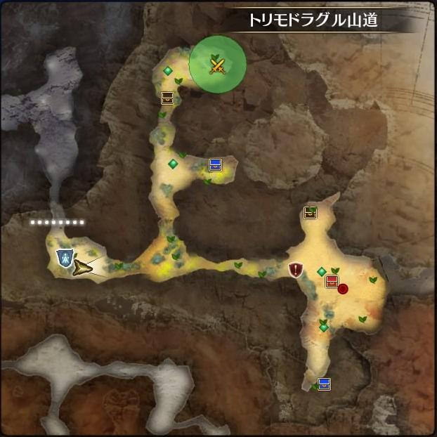 MAP・トリモドラグル山道
